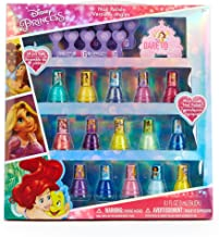 Townley Girl Disney Princess Non-Toxic Peel-Off Nail Polish Set for Girls, Glittery and Opaque Colors, Ages 3+ - 15 Pack