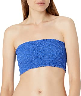 Seafolly Women's Shirred Longline Tube Bikini Top Swimsuit, el Dorado Cobalt Ditsy