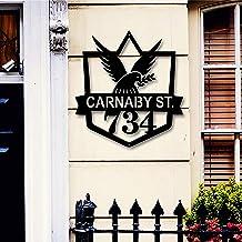 Aangepaste metalen adresbord voor huis, Adres Plaque, Metalen muur decor, Voorveranda Decor, Metalen borden, Metalen adres...