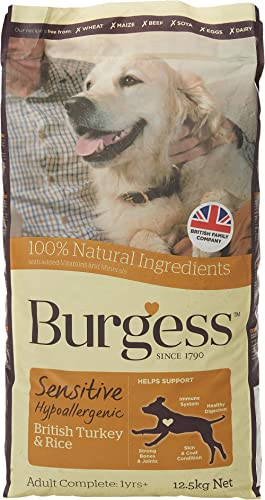 Burgess Sensitive Hypoallergenic Dog Food Adult British Turkey and Rice 12.5kg product image
