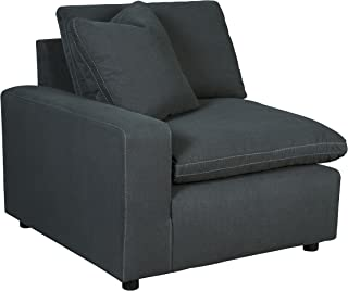 Ashley Furniture Signature Design - Savesto Contemporary Left Arm Facing Corner Chair - Standalone or Sectional Component - Charcoal