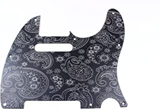 Matte Black Engraved Paisley Anodized Aluminum Pickguard Fits Fender Tele Telecaster- USA Made!