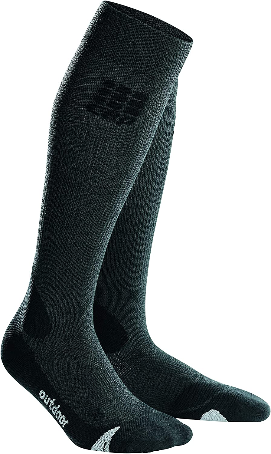 CEP Women's Long Compression Wool Socks Outdoor Merino for Hiking