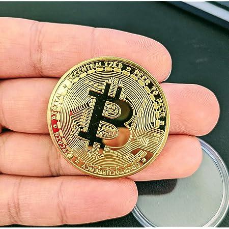 Korperliche Sammelbitcoin-Munze Gold