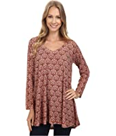 Nally & Millie - Retro Paisley V-Neck Tunic