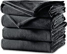Sunbeam Heated Blanket   Velvet Plush, 10 Heat Settings, Slate, Twin - BSV9GTS-R825-12A44