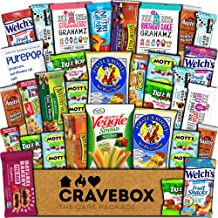 CraveBox Healthy Care Package (30 Count) Natural Bars Nuts Fruit Health Nutritious Snacks Variety Gift Box Pack Assortment Basket Bundle Mix Sample College Student Office Fall Back to School Halloween