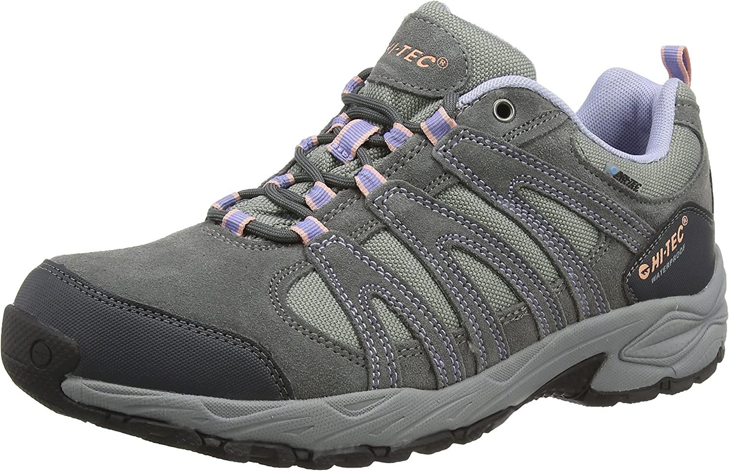 HiTec Women's Alto II Waterproof Low Rise Hiking shoes, Grey (Steel Charcoal Lustre), 7 AU