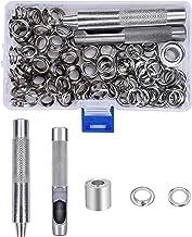 Grommet Kit Metalen Oogjes Grommets 10mm met Opbergdoos Punch Gat Gereedschap Bevestigd Gereedschap voor Tarpaulin Stof Go...
