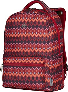 "Wenger 16"" Laptop Backpack with Tablet Pocket, Red Native Print 606471"
