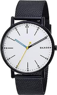 Skagen Men's Signatur Quartz Watch with Stainless-Steel Strap, Blue, 20 (Model: SKW6376)