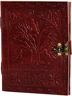 El Cuero genuine Leather Journal large diary travel writing pad sketch book for kids school notebook journal without lines...