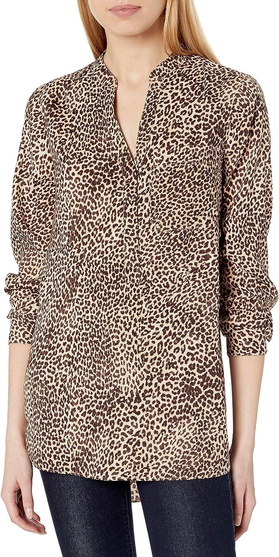Amazon Brand - Daily Ritual Women's Georgette Henley Tunic