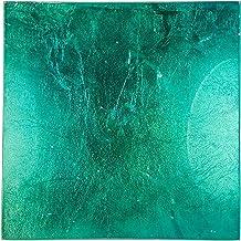 حامل شموع زجاجي أزرق مربع 13 سم من هارموني