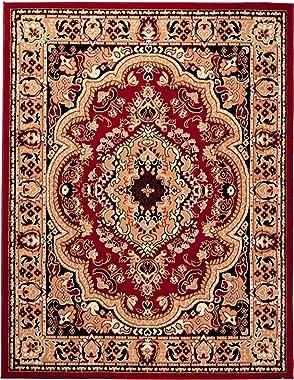 Grand Tapis De Salon - Rouge - Parfait Pour La Chambre - Design Classique - Motif Oriental - Plusieurs Coloris & Tailles
