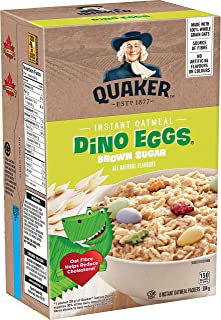 Instant Quaker Oats Dino Eggs Oatmeal, 304g 10.72 ounces {Imported from Canada}