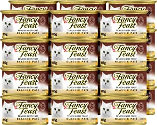 Purina Fancy Feast Classic Tender Beef Wet Cat Food 85g x 24 Cans
