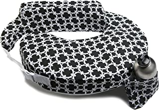 My Brest Friend Inflatable Travel Nursing Pillow – Maternity Breastfeeding Support, Black & White Marina Paisley