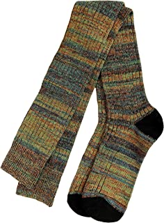High Socks for Men - Mens Thigh Highs, warm cotton green for sleep