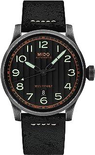 MIDO - Reloj de hombre automático 44mm correa de cuero caja de M0326073605009