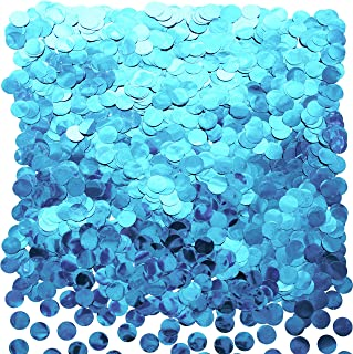 Light Blue Foil Metallic Round Table Confetti Decor Under The Sea Baby Shower Birthday Party Circle Dots Mylar Table Scatter Confetti Wedding Bachelorette Party Confetti Decorations, 50g