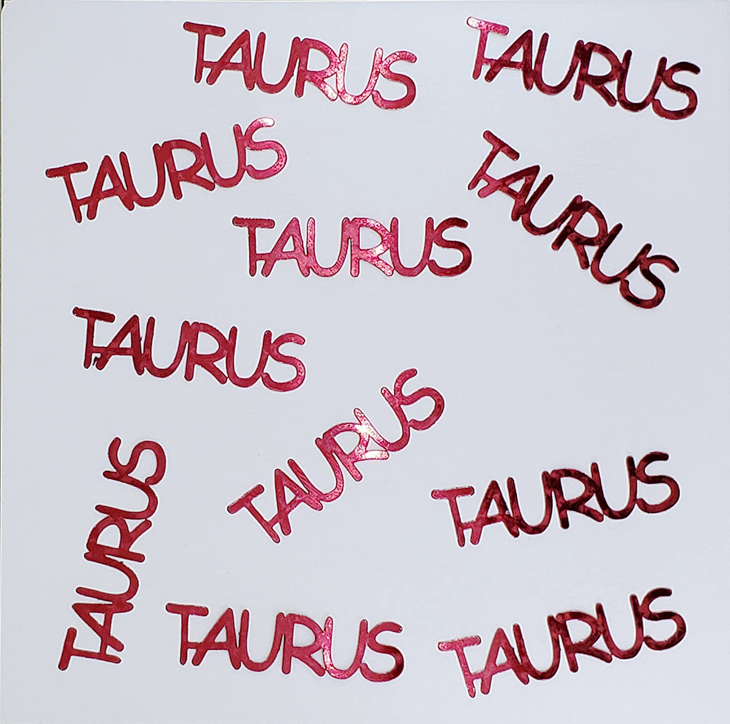 Metallic Confetti Word - Direct stock discount TAURUS Also 12 Colors Available OFFer in
