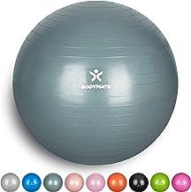 BODYMATE Ballon Fitness Diff/érentes Tailles /& Coloris E-Book Gratuit Pompe Incluse