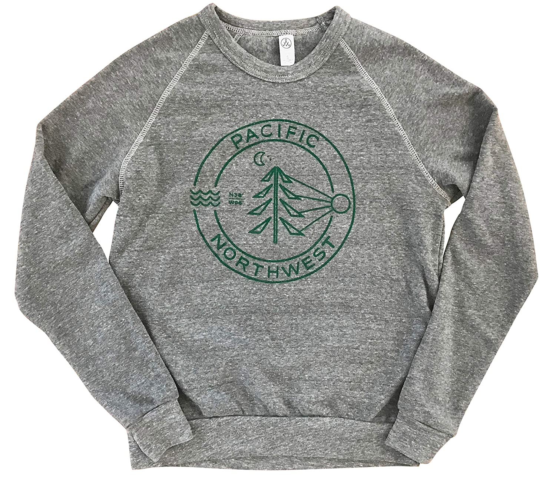 Max 67% OFF Evergreen PNW Men's Unisex Fleece Pacific Sweatshirt - Weekly update Crewneck