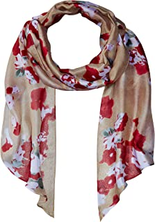 Women's Textile Flower Painting Poly Oblong