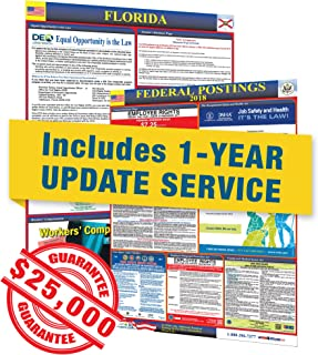 2019 Florida State & Federal Labor Law Posters with 1 Yr E Update Service