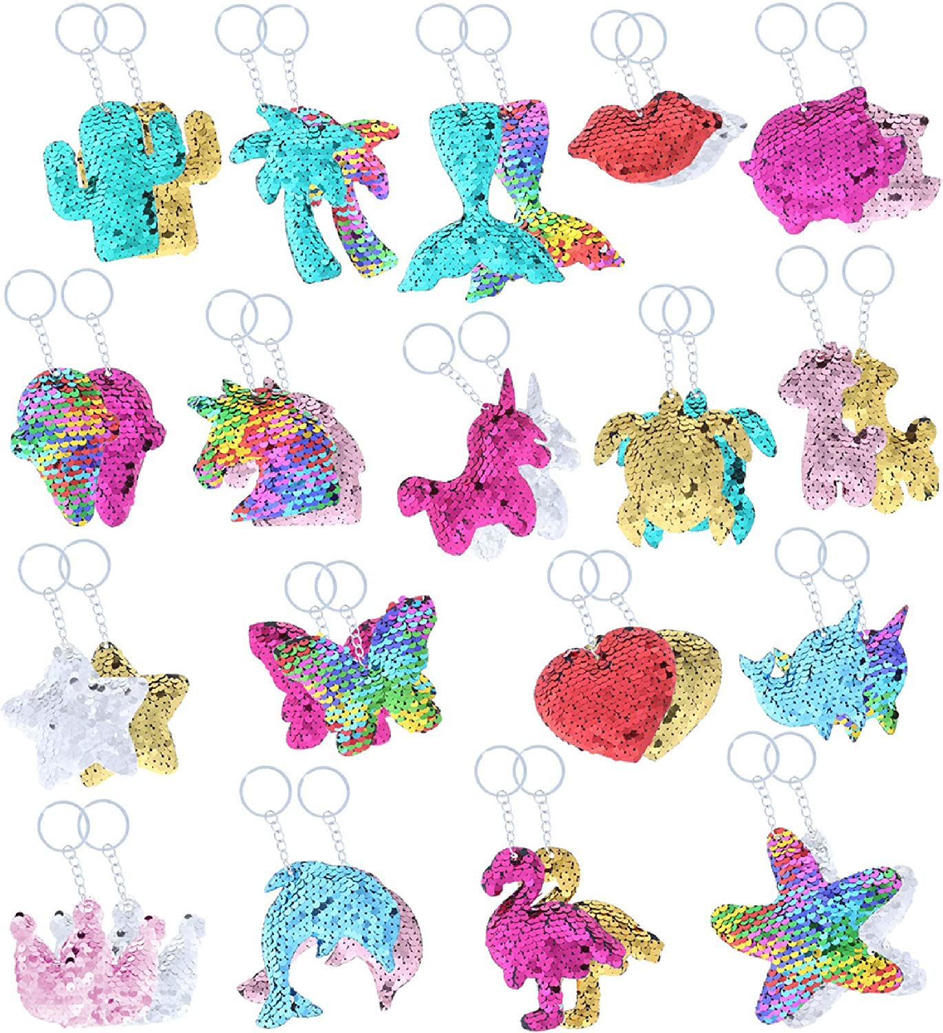 CoTa Global Flip Raleigh Ranking TOP17 Mall Sequin Keychains 36 Pack Novelty Part Bulk Toys