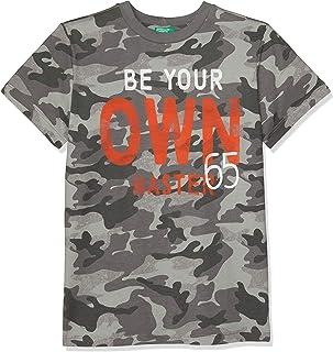 United Colors of Benetton Desenli Slogan Baskılı Tişört Erkek çocuk T-Shirt