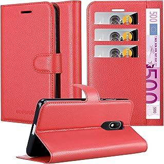 Guran/® Funda de Cuero PU Para Wiko Wim Lite Smartphone Funci/ón de Soporte con Ranura para Tarjetas Flip Case Cover Caso-rojo