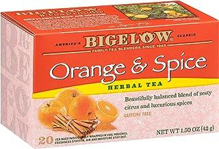 Bigelow Orange & Spice Herbal Tea Bags, 20 Count Box (Pack of 6) Caffeine Free Herbal Tea, 120 Tea Bags Total