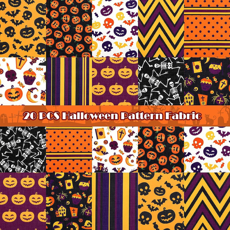 20 Pieces 10 x 11 Inch Fabric Sku Topics on TV Bat Al sold out. Quilting Halloween Pumpkin