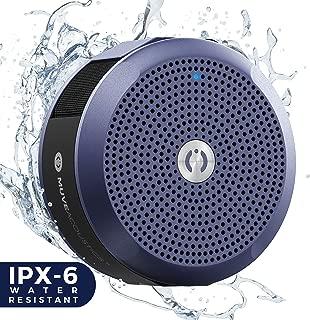 MuveAcoustics Portable Bluetooth Waterproof Speaker - Loudest Splashproof Stereo Sound for Men and Women, Blue