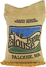 Non-GMO Project Verified Hard White Wheat Berries • 100% Desiccant Free • 5 lbs • Kosher Parve • USA Grown • Field Traced • Burlap Bag