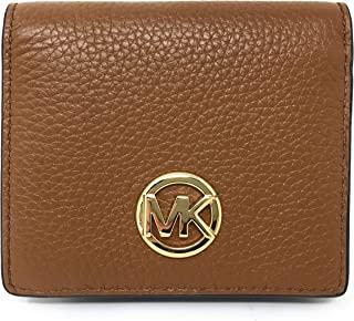 Michael Kors Fulton Leather Carryall Card Case Wallet (Luggage)