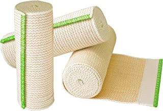 "NexSkin Cotton Elastic Bandages w/Hook Loop Closure, 6"" Width - 1, 2, 3 6 Pack"