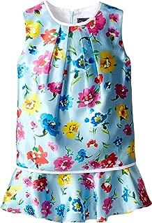 Childrenswear Womens Scattered Flower Mikado Multi Layer Dress (Toddler/Little Kids/Big Kids)