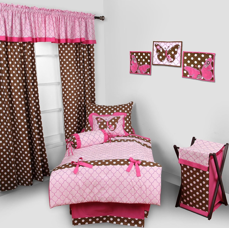 Bacati Butterflies/Lady Bug Pink/Chocolate Hamper