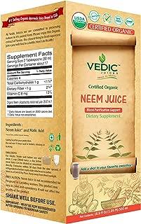 Neem Juice 500 Milliliter USDA Certified Organic Juice by Vedic Juices