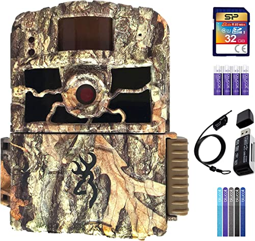 wholesale Browning BTC-6HD-MXP Dark high quality Ops HD MAX lowest Plus Trail Camera Bundle with 32GB SDHC Memory Card, Blucoil 4 AA Batteries, USB 2.0 Card Reader, 6.5-FT Combination Cable Lock, and 5-Pack of Reusable Cable Ties online