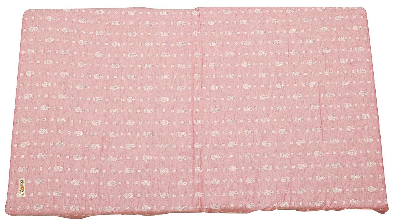 丈夫アラバマセージエムール フィットシーツ ベビーサイズ マトリョーシカピンク 日本製 綿100% 2重織ガーゼ 周囲ゴムフィット式 ベビー シーツ
