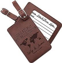 leather luggage tags custom