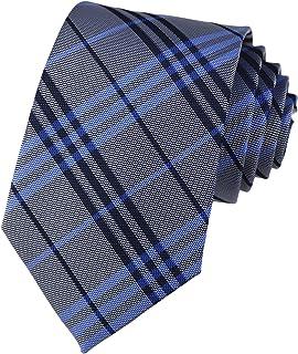 Classic Checks Striped Slim Tie Formal Business Jacquard Woven Necktie for Mens