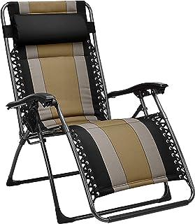 AmazonBasics Padded Zero Gravity Patio Chair - Black