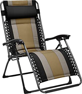 AmazonBasics Padded Zero Gravity Chair- Black