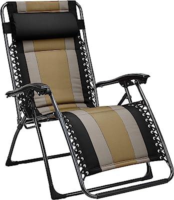 Amazon Basics Padded Zero Gravity Patio Chair - Black
