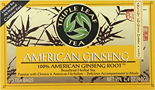 Triple Leaf Brand Tea, American Ginseng, 20-Count